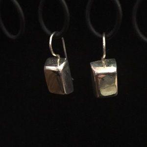 Silpada SS Chunky Modern Rectangle Bar Earrings